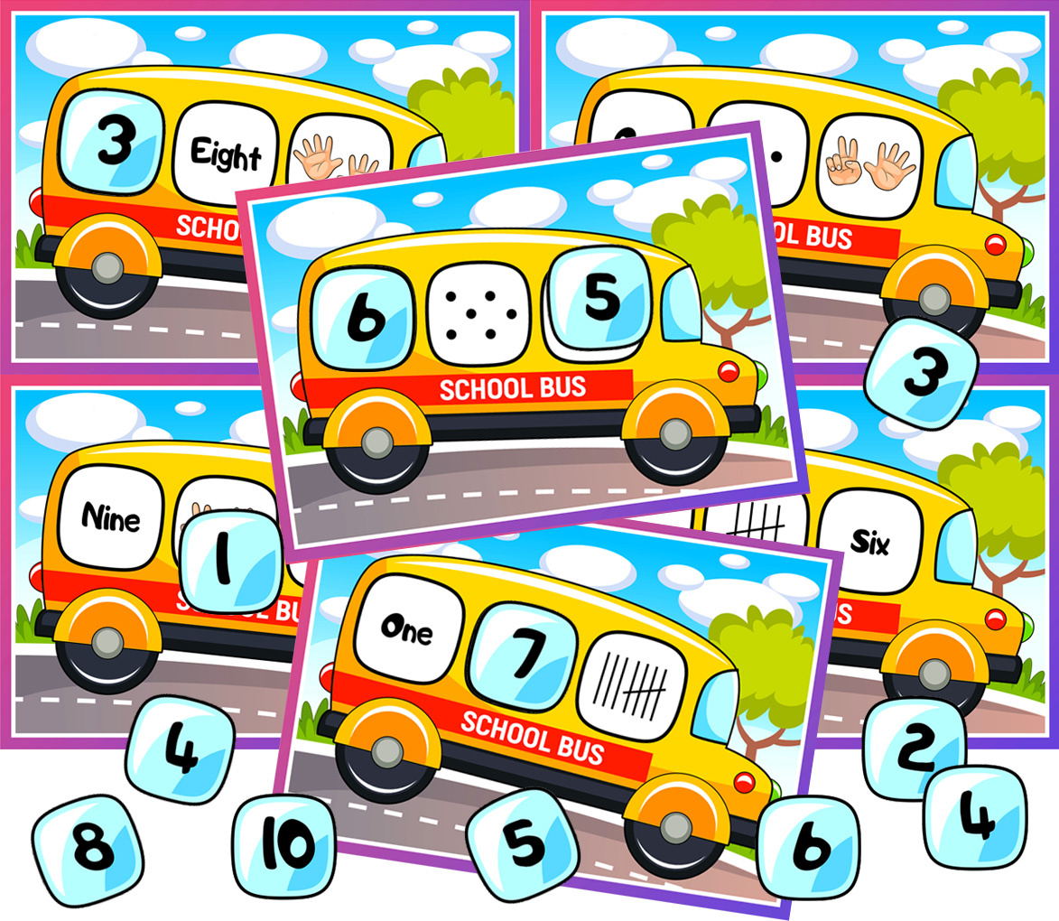 School Bus Math Activity