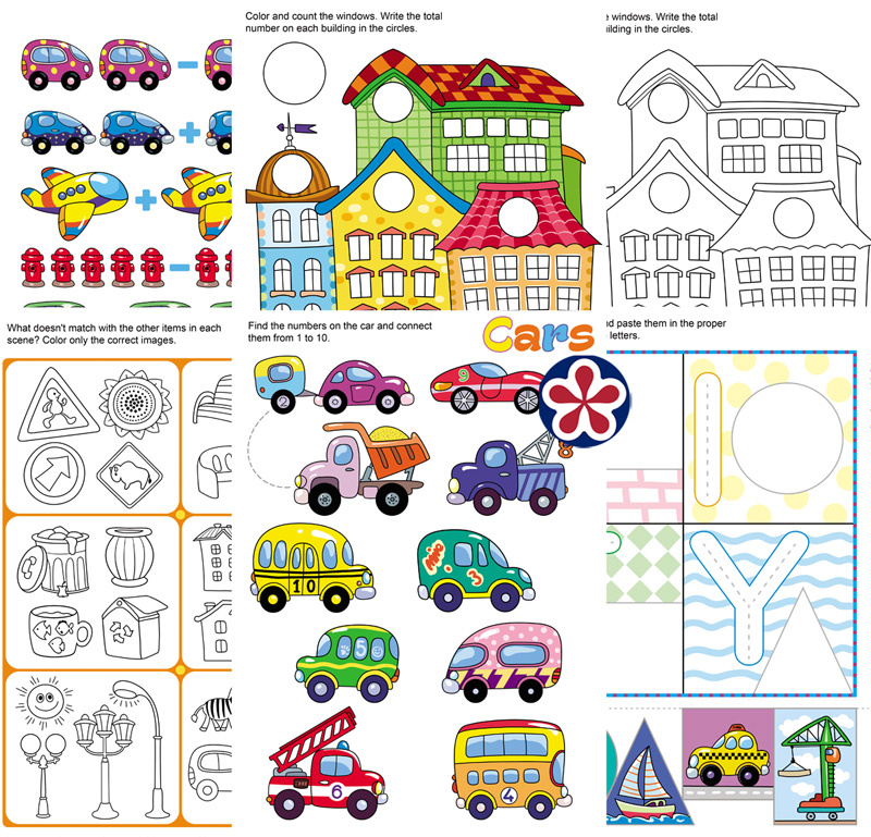 City Theme Worksheets for Preschool and Kindergarten