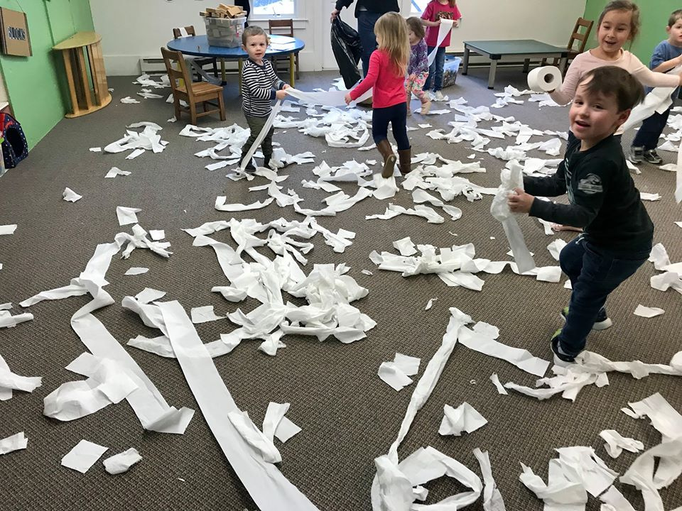 Toilet Paper Play Activity to Get Out Extra Energy