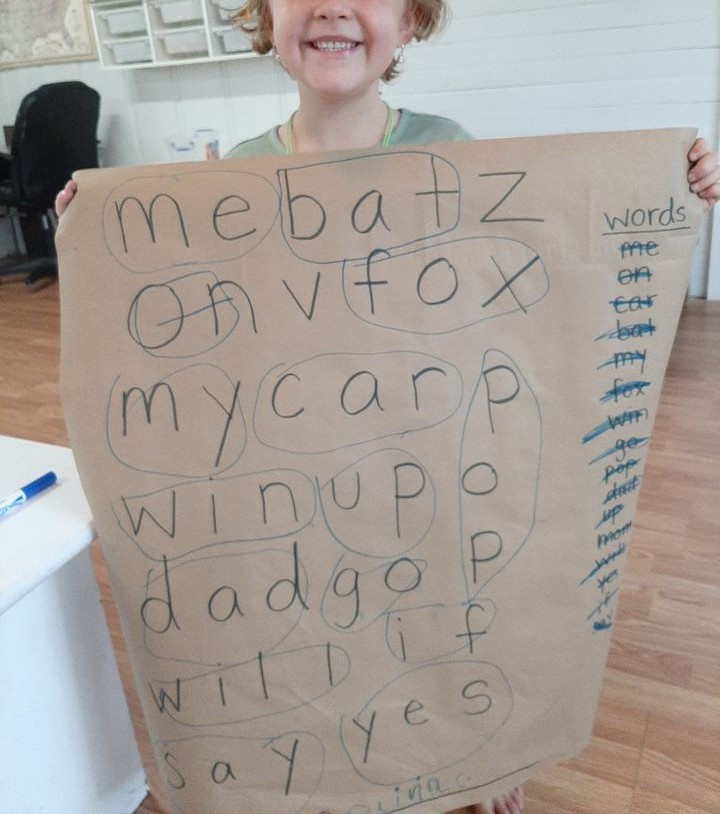 Making a Giant Word Search Craft for Kids