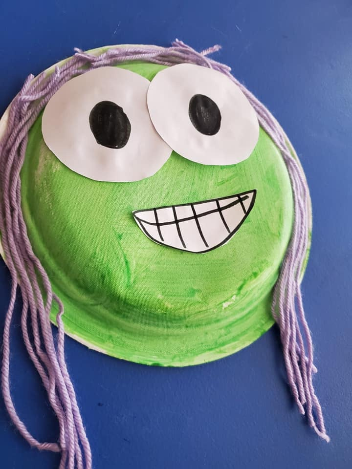 Smiling Face Paper Plate Craft
