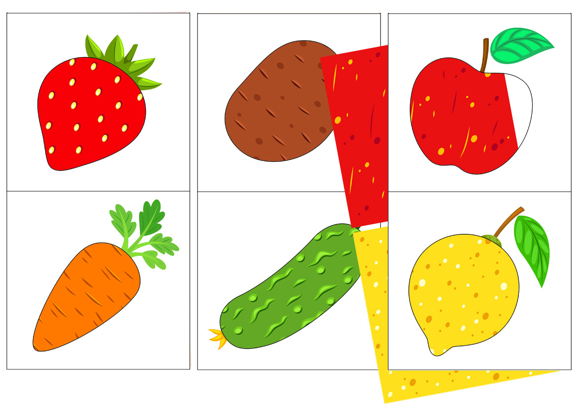 Pick the Color of Fruits and Vegetables Matching Game