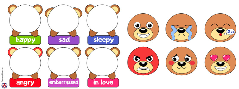 Bear Emotions Activity for Preschoolers