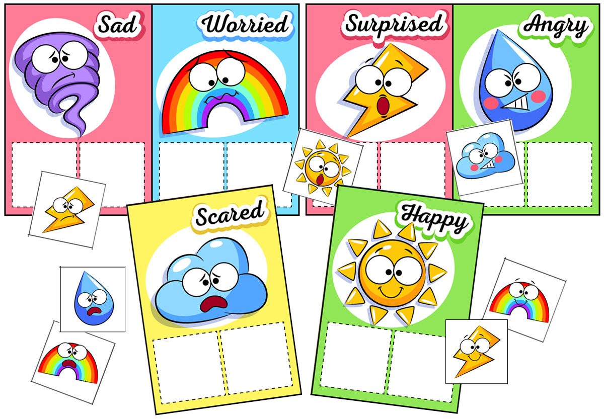 Weather Emotions Matching Game for Young Children