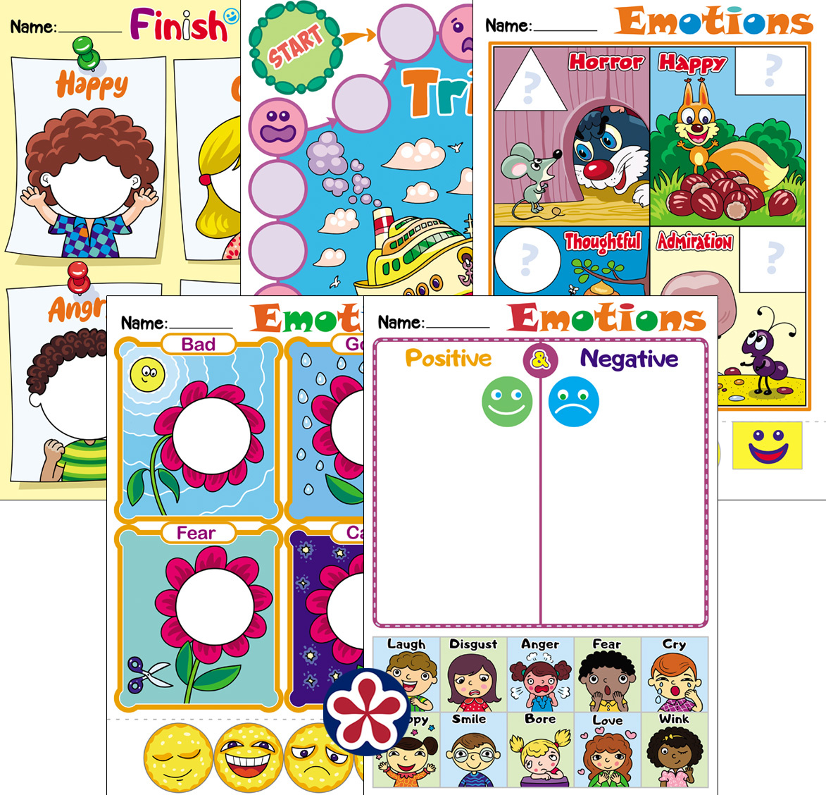 Emotion-Themed Worksheets for Kids