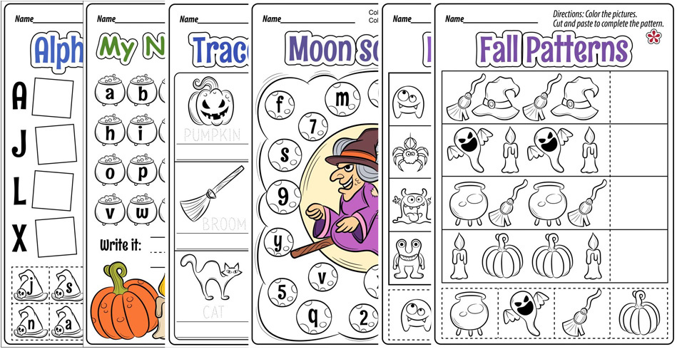 Fall and Halloween Themed Worksheets