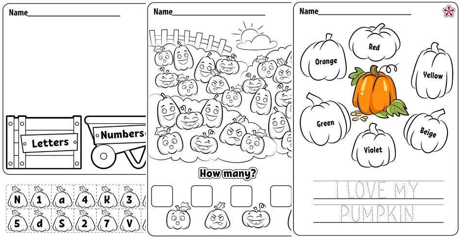 Free Pumpkin Worksheets