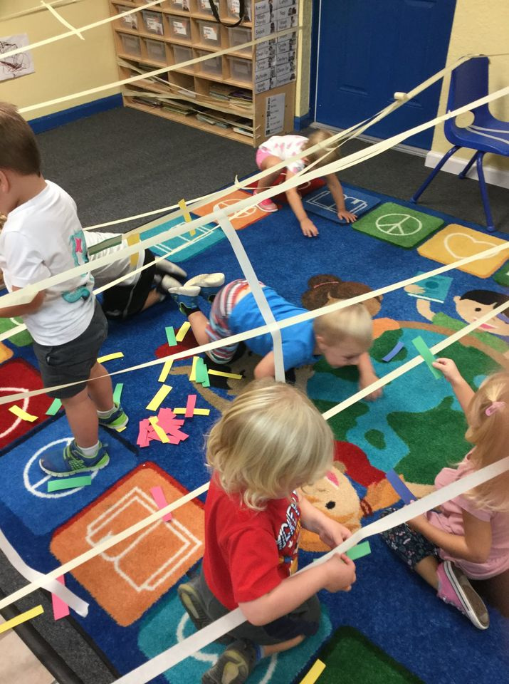 Spider Web Gross and Fine Motor Activity