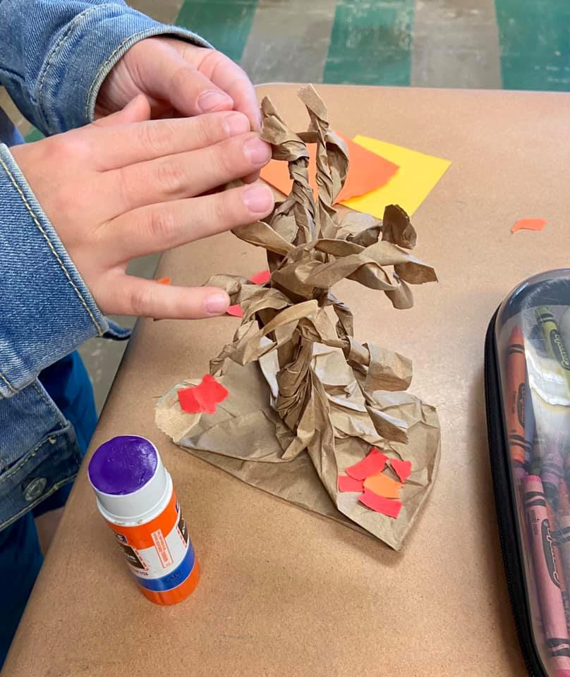 Paper Bag Fall Sculptures