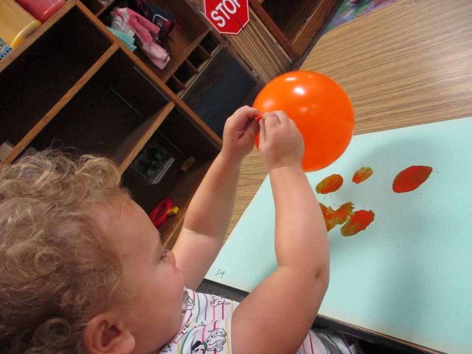 Balloon Paint-Stamping Activity For Little Ones
