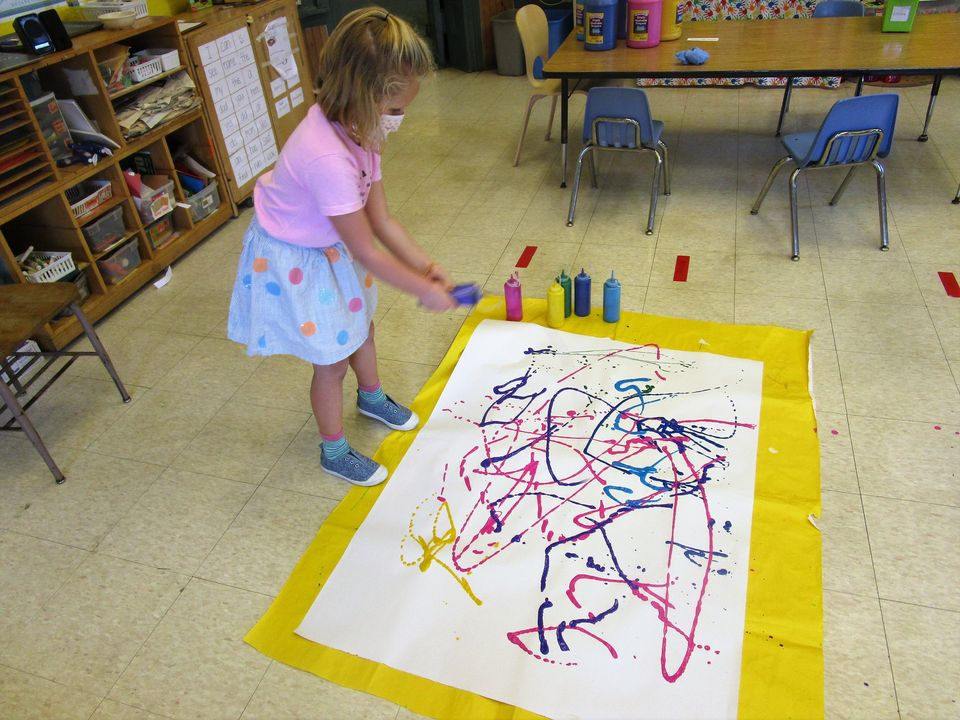 Jackson Pollock-Inspired Class Activity