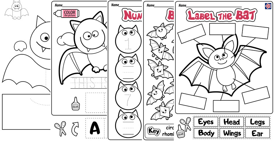Printable Bat Worksheets
