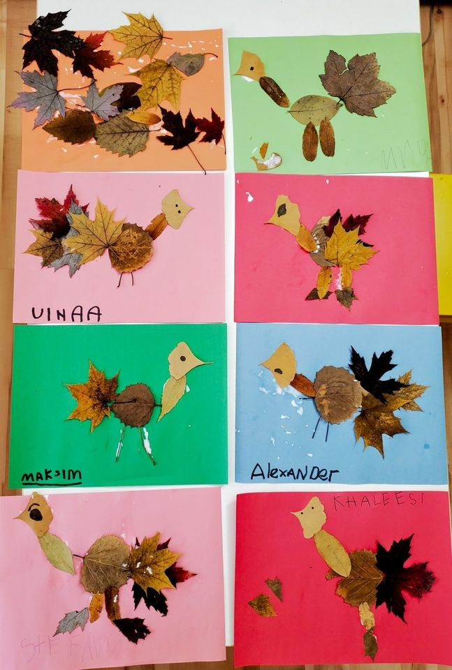 Leaf-Turkey Art Project for Kids