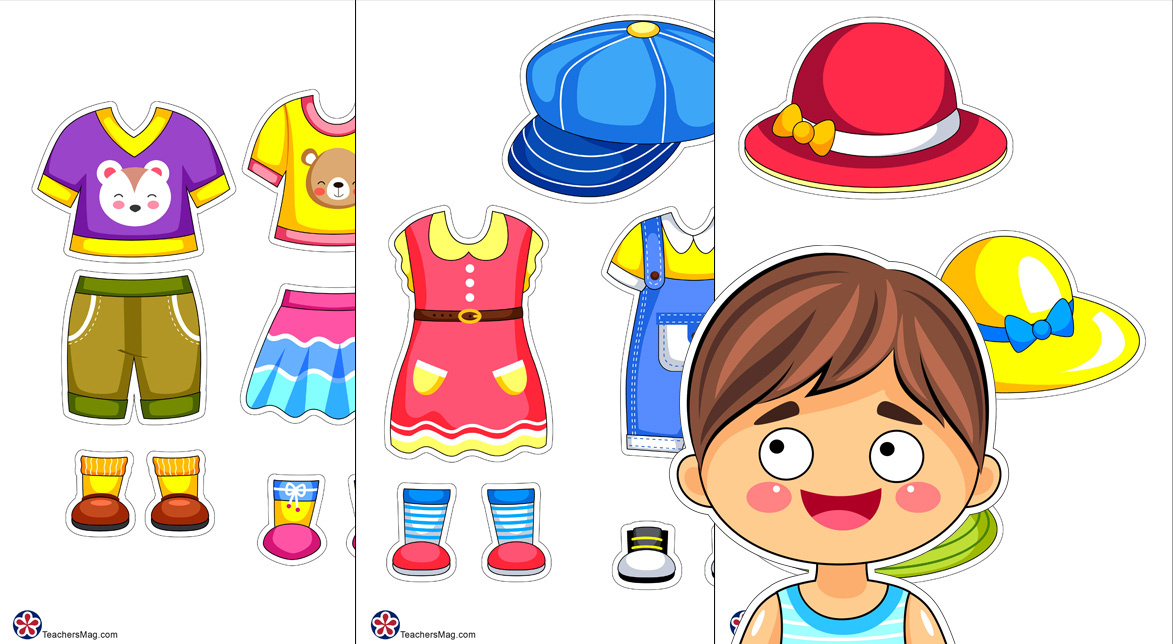 Sets of Summer Clothes for Paper Dolls