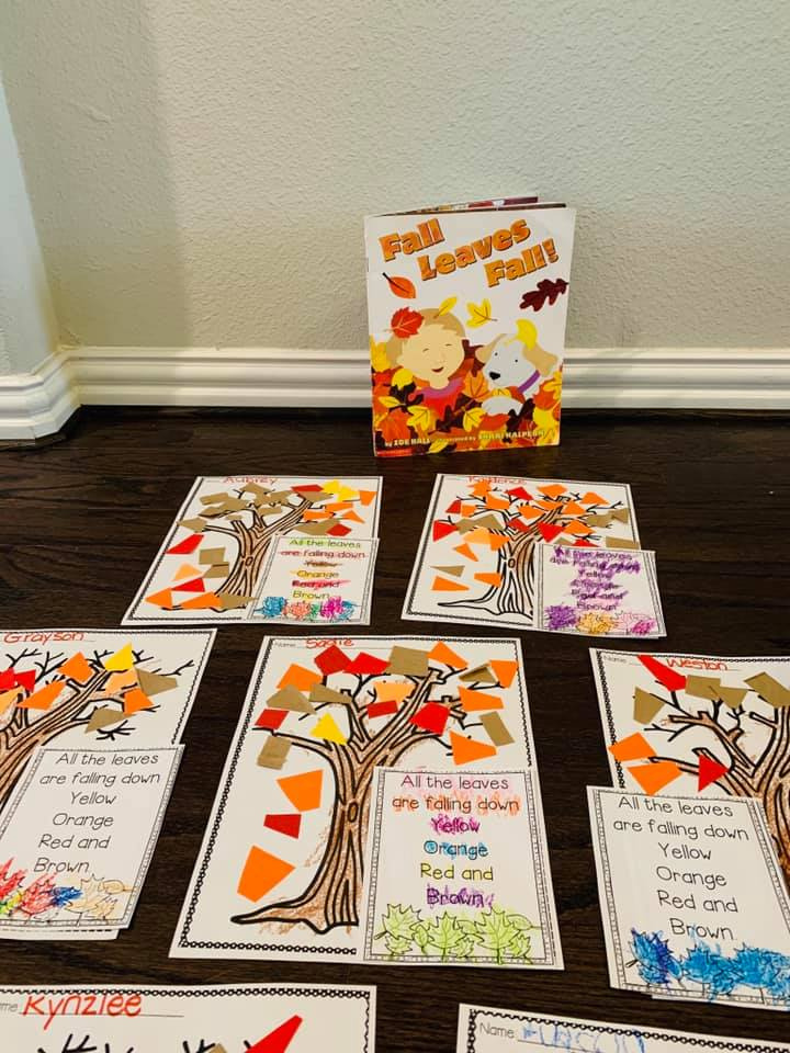 Falling Leaves Craft For Preschool Students