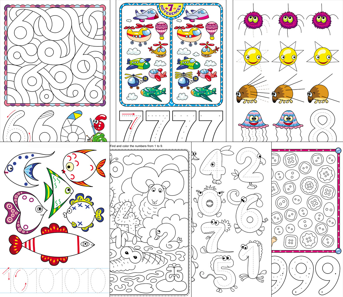 Worksheets About Learning Numbers for Preschool and Kindergarten
