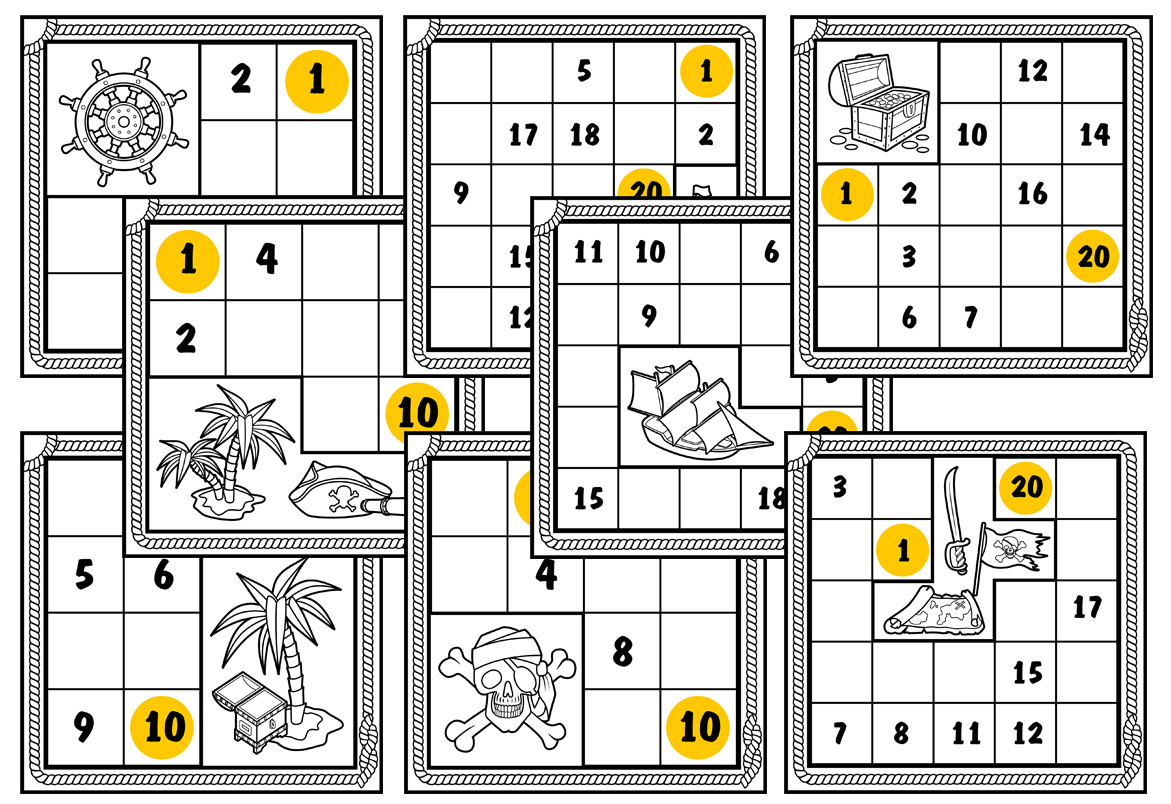 Numbrix Worksheets for Kindergarten Students