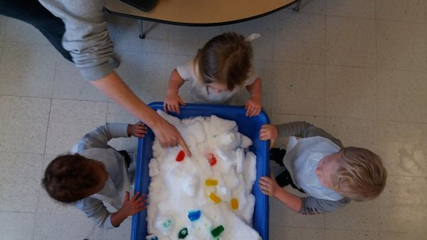 Snow Exploration with Food Dye!