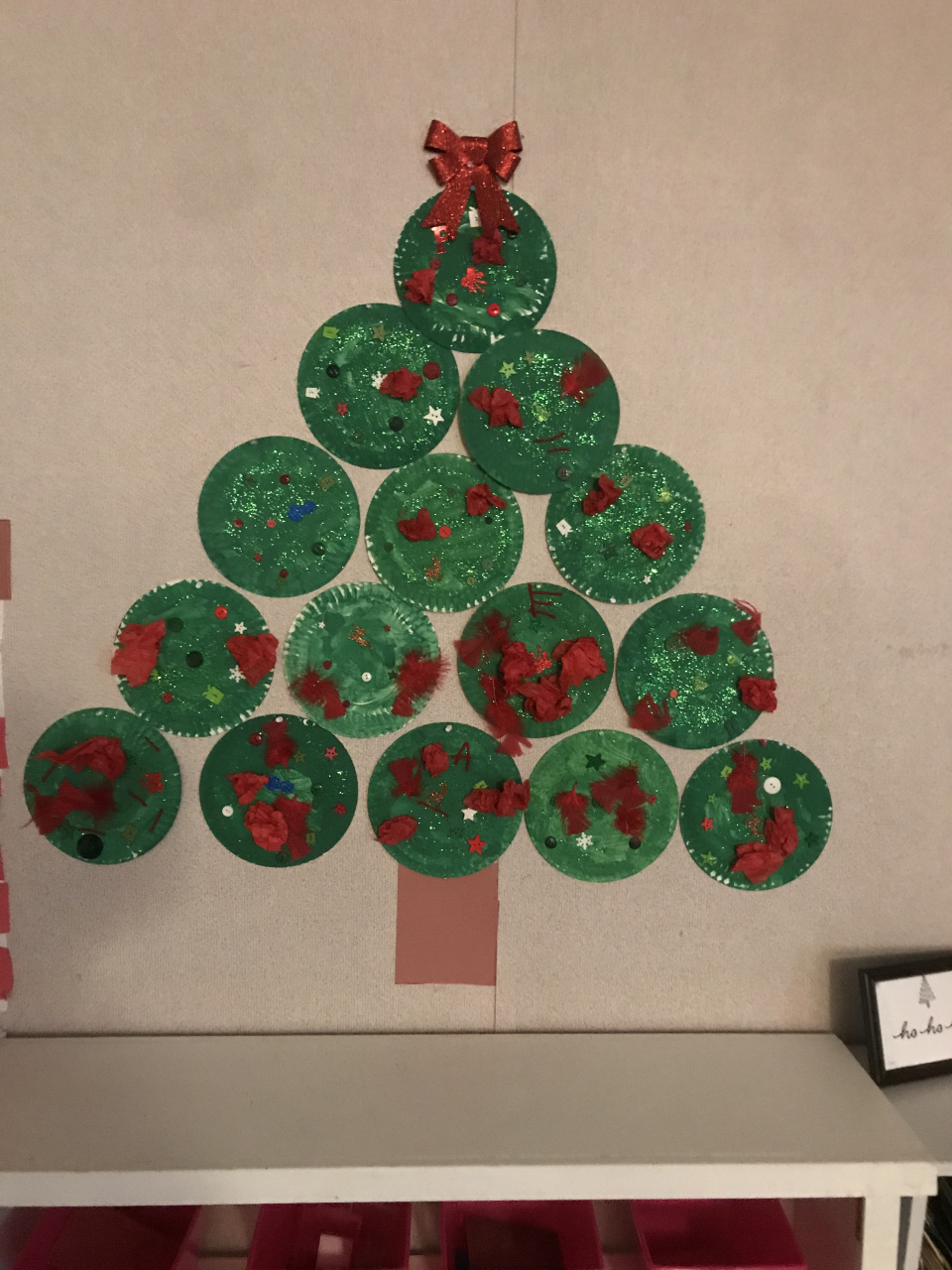 Christmas Tree made from Plates by 3's,4's, and 5's