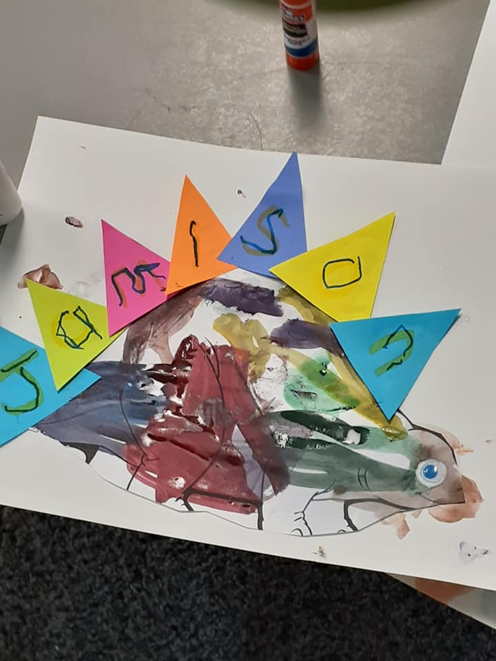 Dinosaur-Themed Name Craft