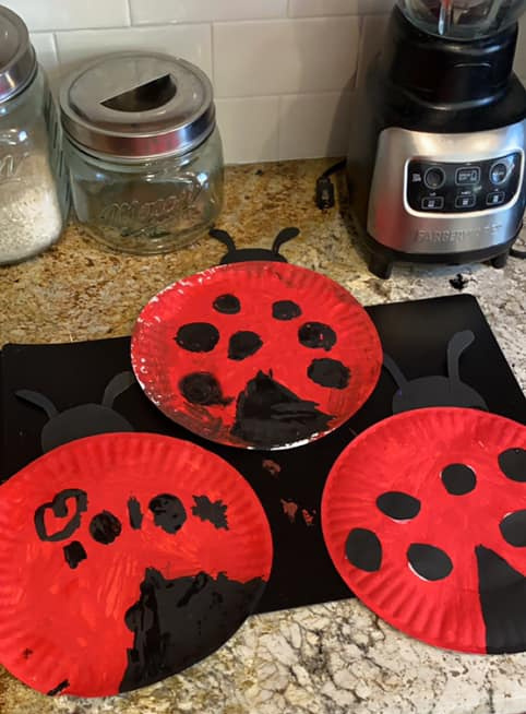 Paper Plate Ladybugs Craft