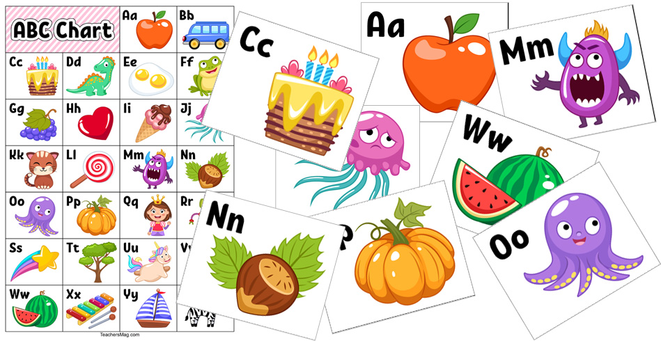 Free Chart and Flash Cards for Learning the Alphabet