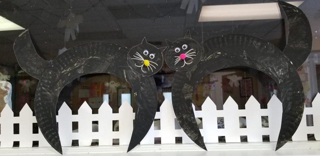 halloween craft paper plate
