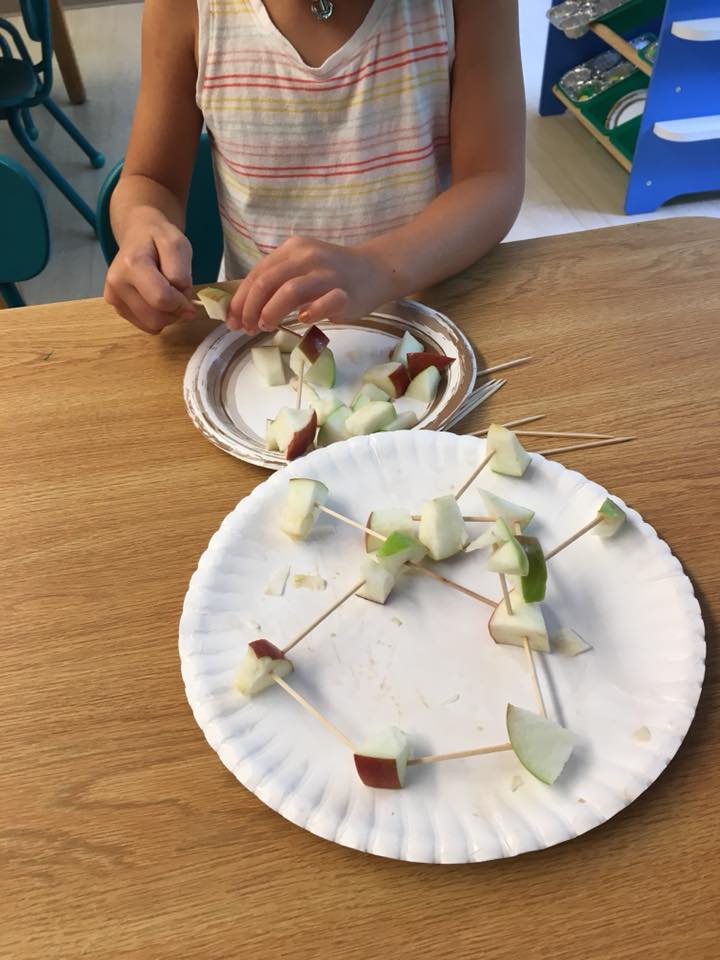 Apple Toothpick Sculptures for preschoolers
