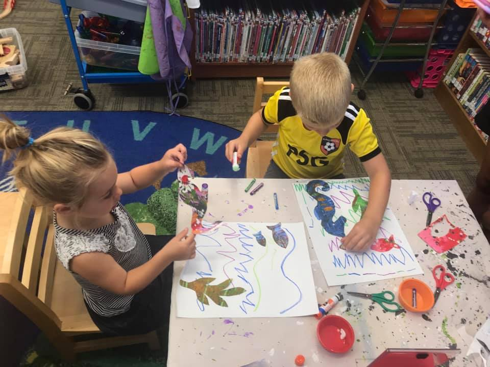 Eric Carle-Inspired Seahorses Collage for Preschoolers