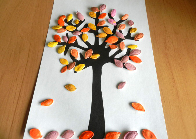 A Beautiful Autumn Pumpkin Seed Fall Tree Project