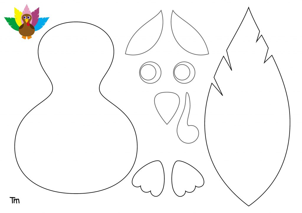Turkey Headband template