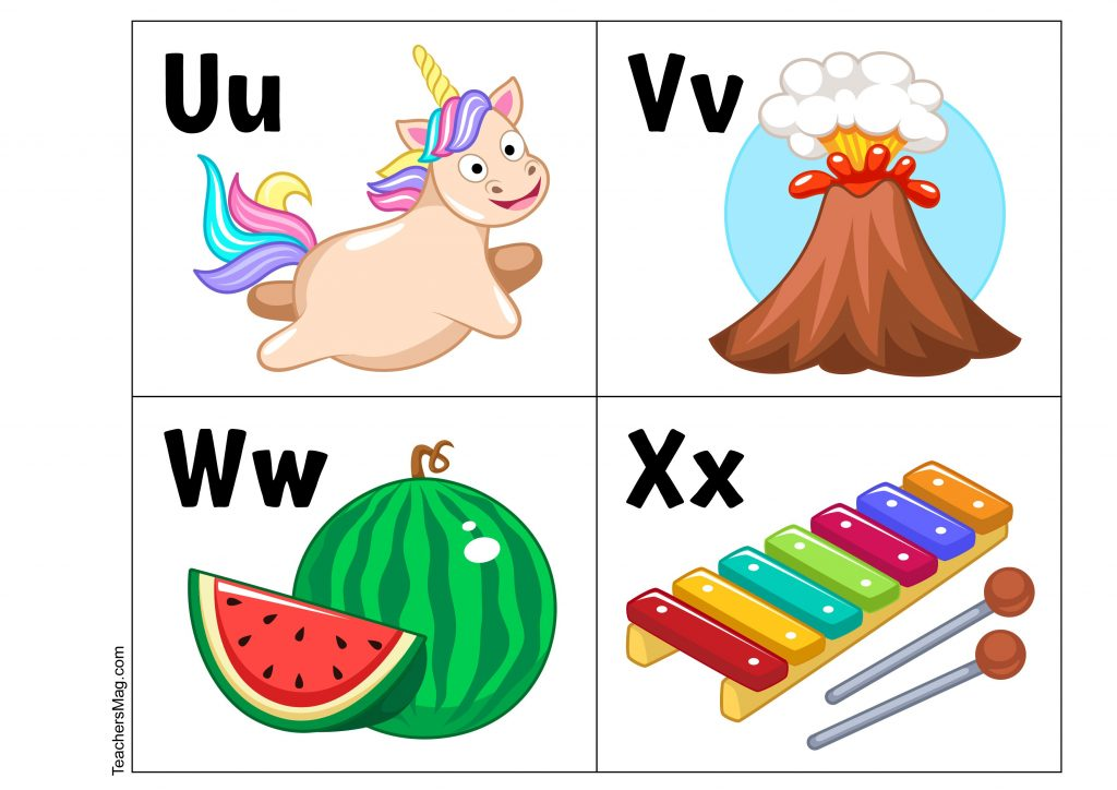ABC flash cards preschool & kindergarten