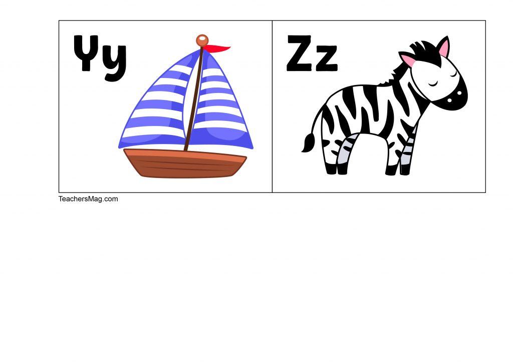 ABC flash cards preschool & kindergarten