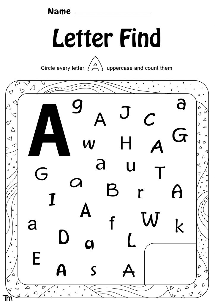 Letter find worksheet