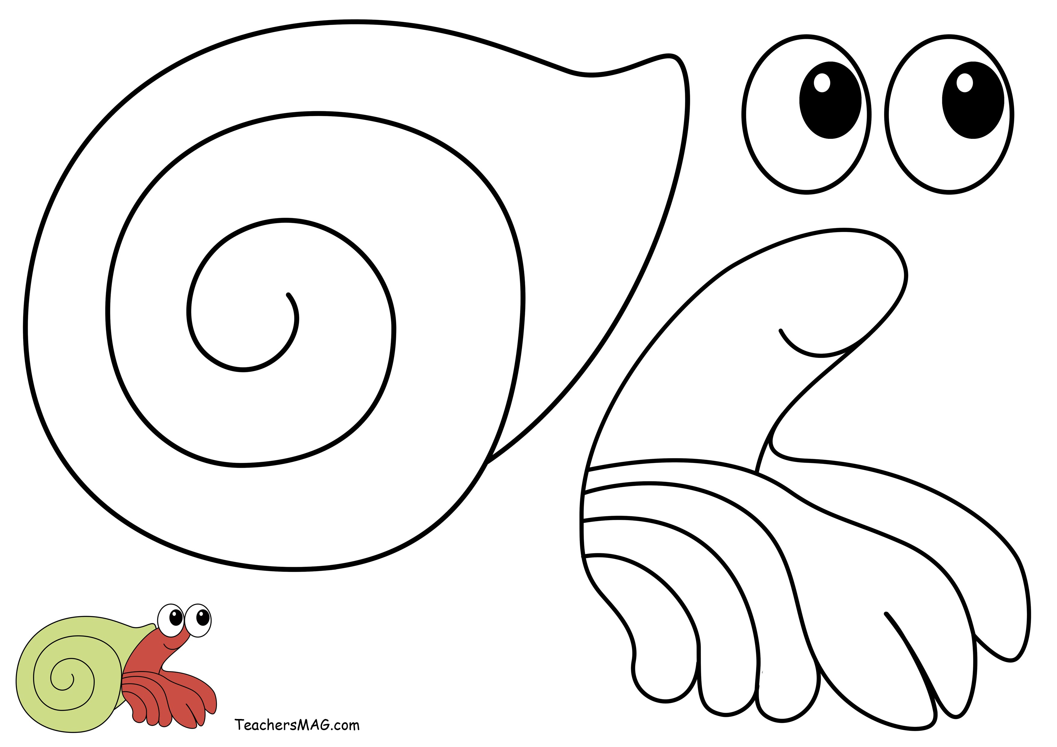 A House For Hermit Crab Craft For Preschoolers Printable Teachersmag Com