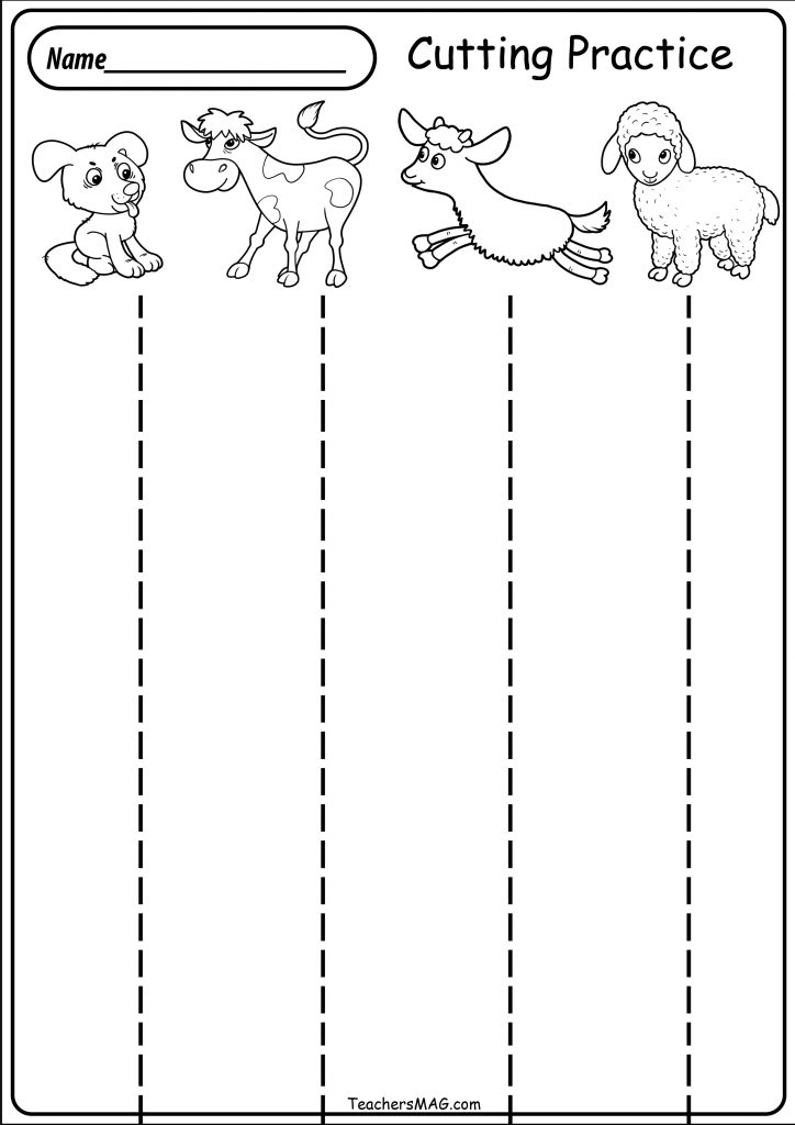 Square Cutting Activity for Toddlers
