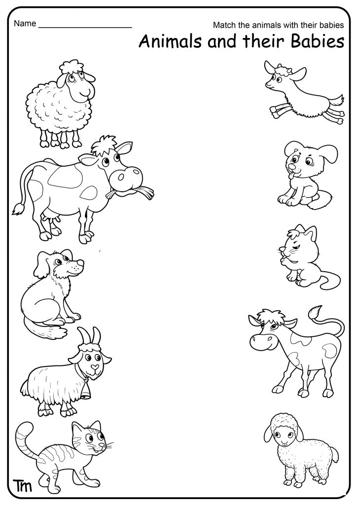 Free Printable Farm Animal Worksheets For Preschoolers. TeachersMag.com