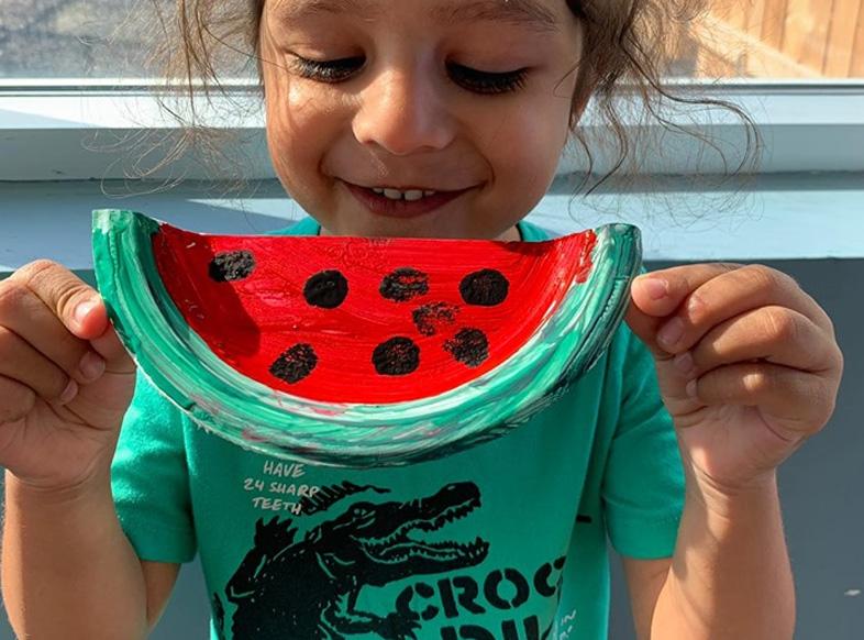 Watermelon Plate Craft   Watermelon Day