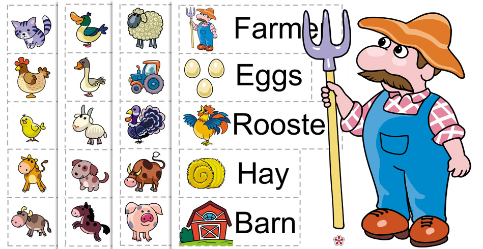 Farm Animals Theme for Preschool: Vocabulary Words
