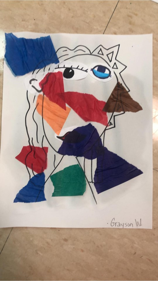 Preschool Art: Picasso Portraits