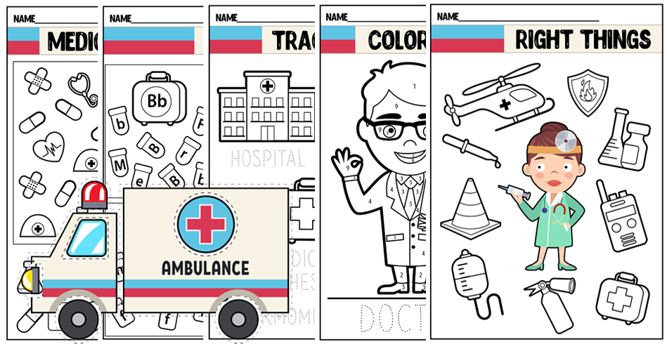 Community Helpers Worksheets: Doctor