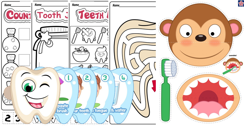 Dental Health Worksheets for Preschool and Kindergarten ...