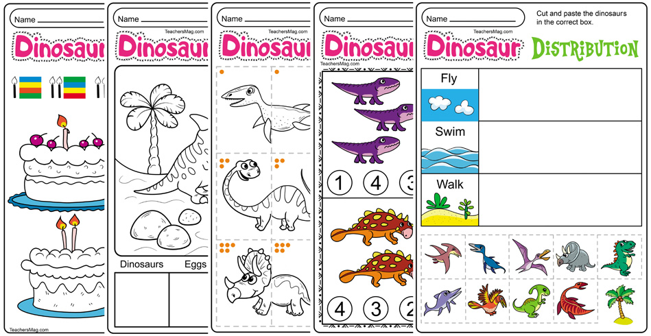 Free Printable Dinosaur Worksheets