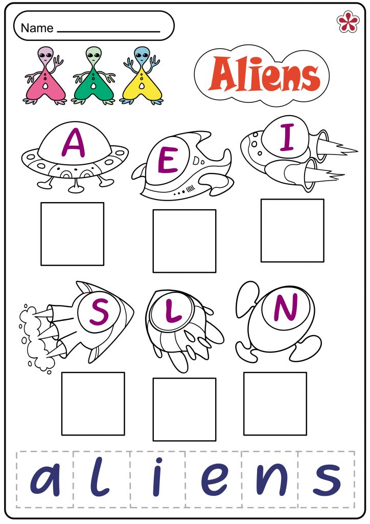 Aliens Worksheet