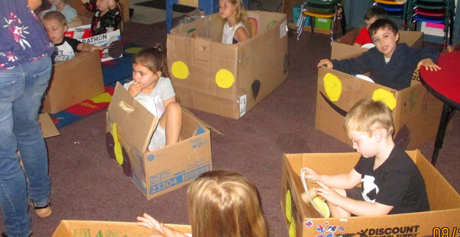 Cardboard Box Cars for Preschool Students