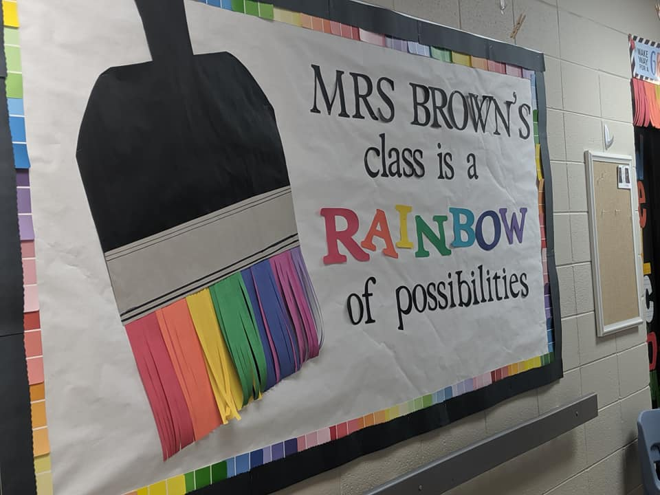 Rainbow of Possibilities Bulletin Board