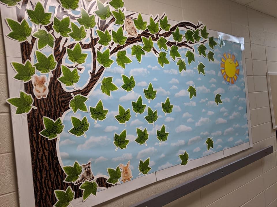 Spring Leaves Bulletin Board