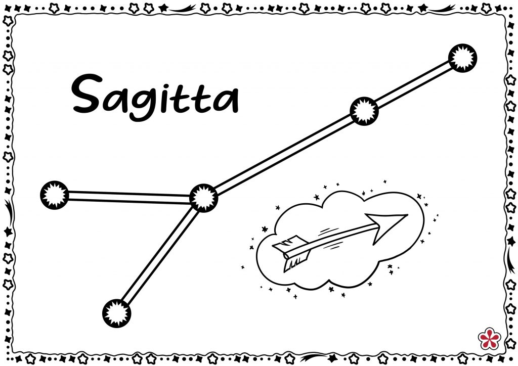 Sagitta Constellation Templates for Kids