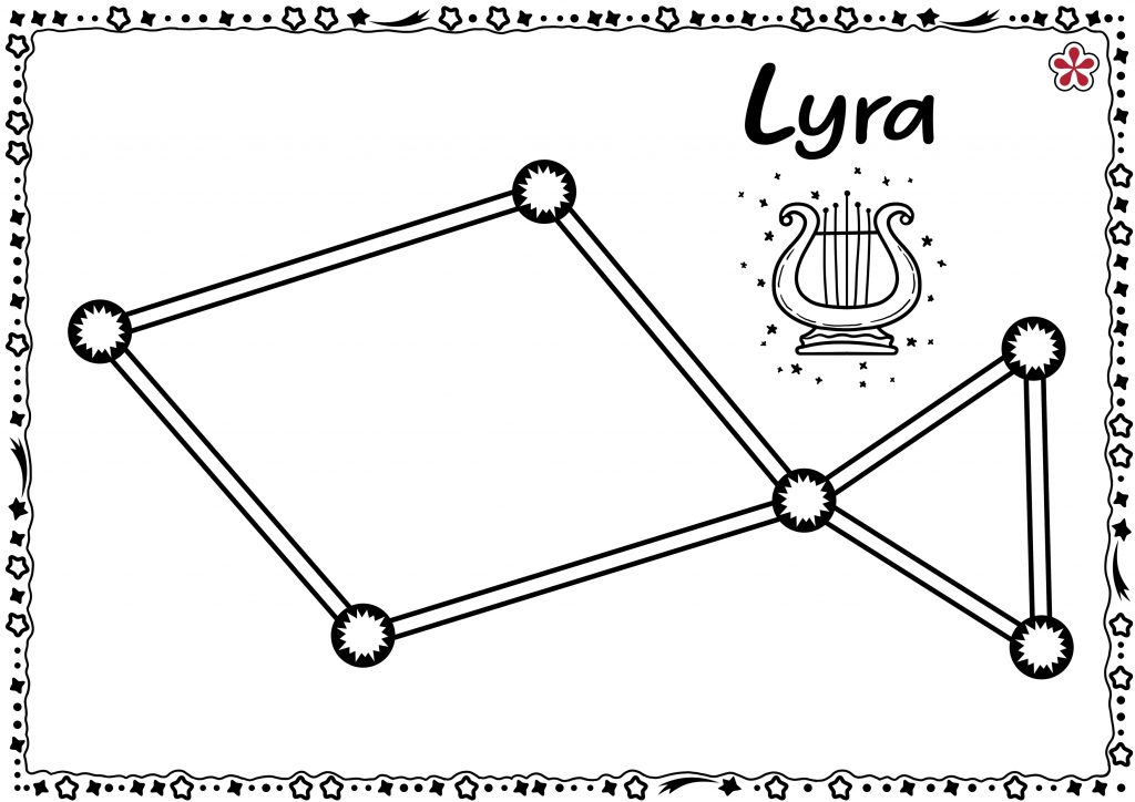 Lyra Constellation Templates for Kids