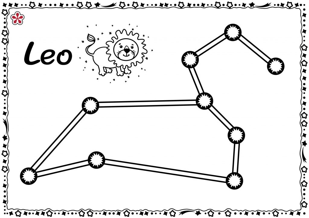 Leo Constellation Templates for Kids